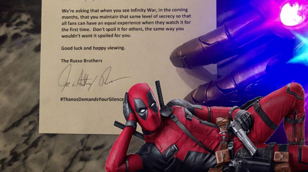 Deadpool 2 Thanos Avengers spoiler / Filmz.dk