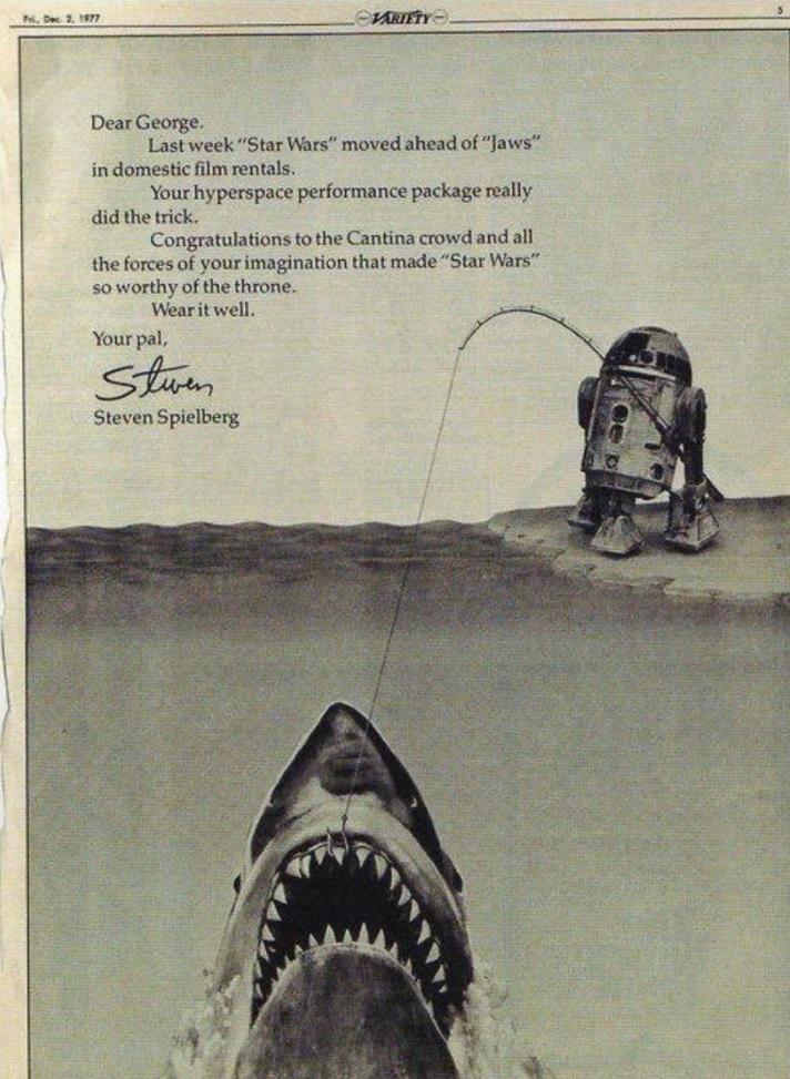 Jaws Star Wars First box office king / Filmz.dk