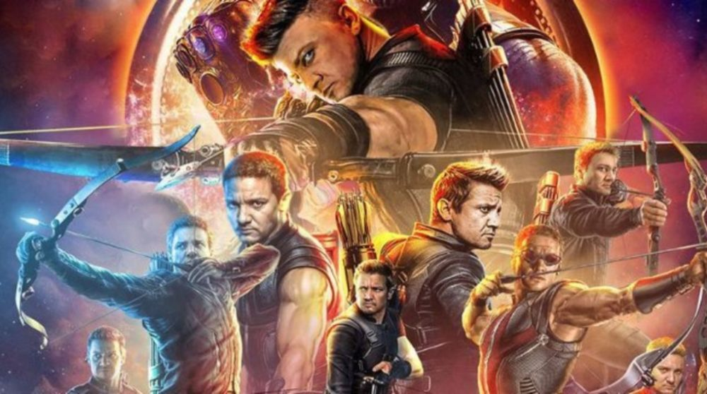 Hawkeye plakat infinity war / Filmz.dk
