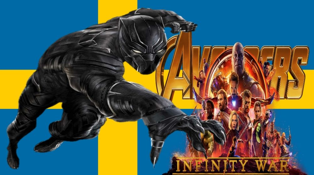 Sverige Black Panther Infinity War Marvel Box Office / Filmz.dk