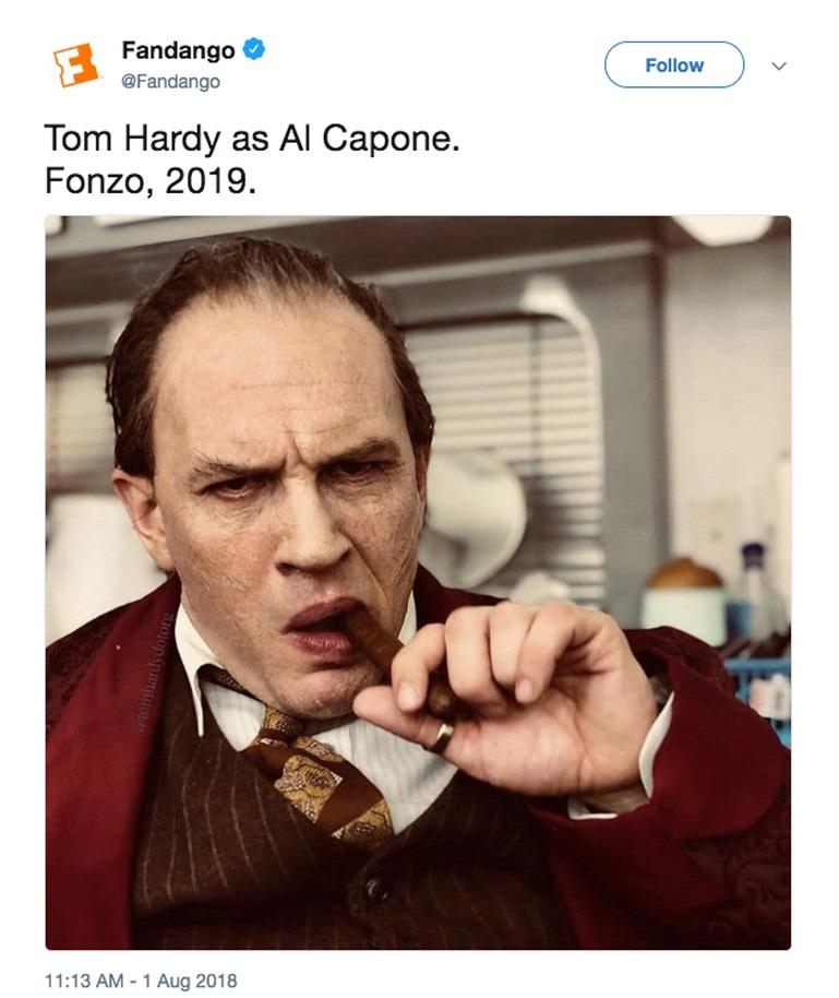 fandango tom hardy fonzo tweet / Filmz.dk