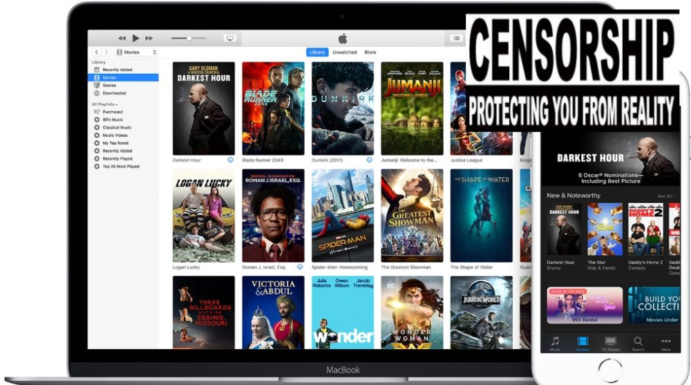 Apple streaming censur rating sex vold / Filmz.dk