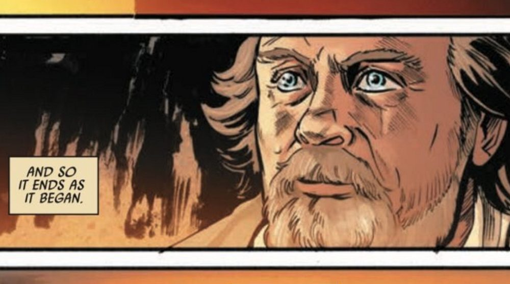 Luke Skywalker død dør the last jedi tegneserie / Filmz.dk