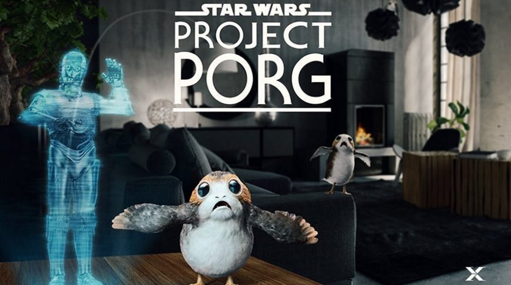 Project Porg Star Wars augmented reality / Filmz.dk