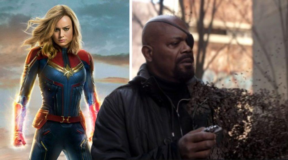 Nick Fury Captain Marvel Avengers / Filmz.dk