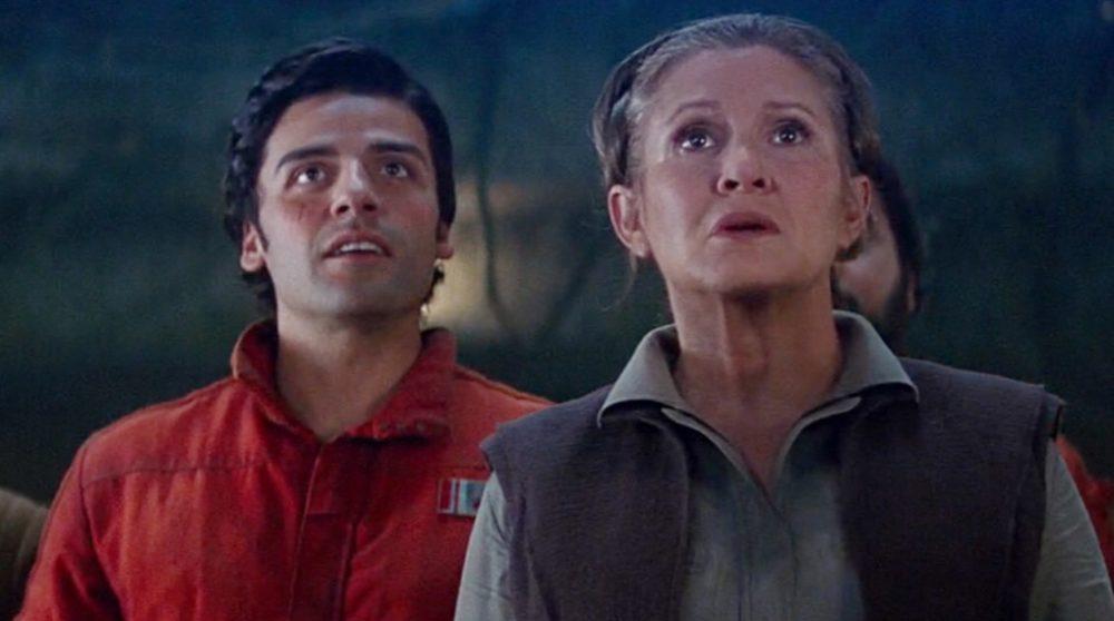 Oscar Isaac Leia Carrie Fisher Episode IX / Filmz.dk