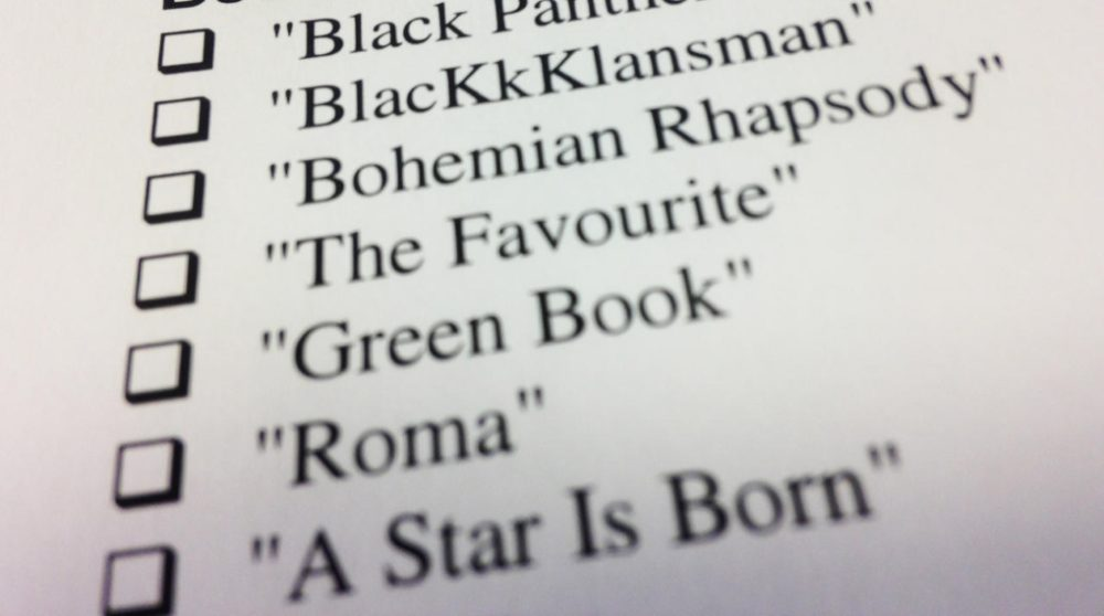 Oscar stemmeseddel print selv 2019 / Filmz.dk