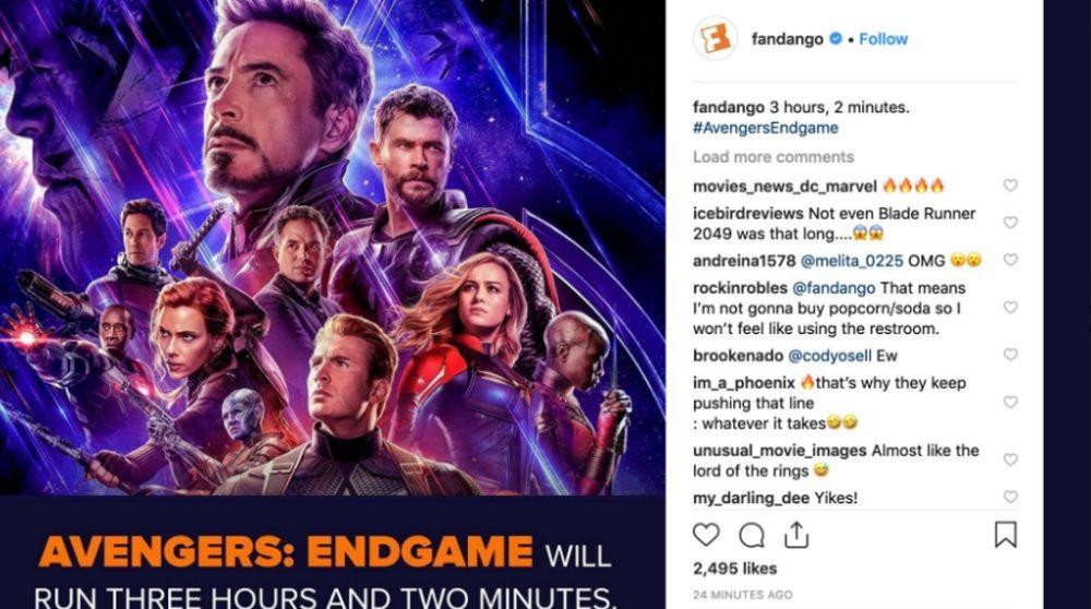 Avengers Endgame spilletid / Filmz.dk