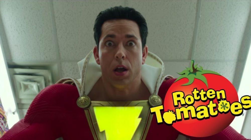 Shazam! Rotten Tomatoes score / Filmz.dk