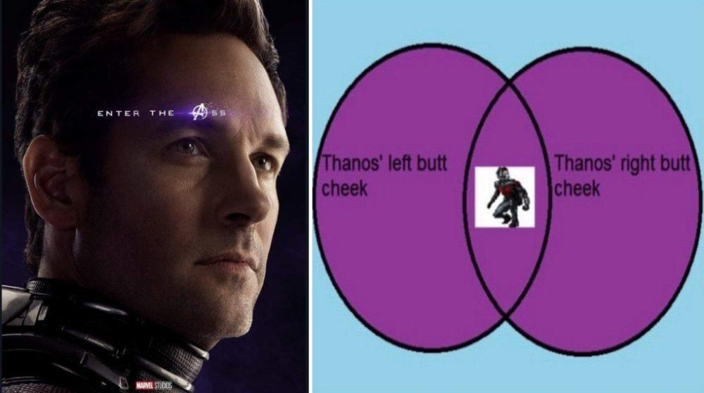 Ant-Man Thanos røv numse teori Avengers endgame / Filmz.dk