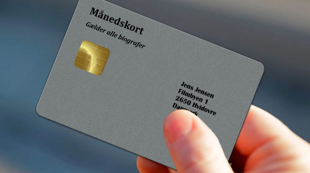 Biografkort månedskort biograf Danmark ubegrænset abonnement film / Filmz.dk