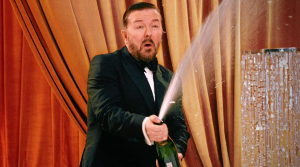 Ricky Gervais Golden Globe teaser / Filmz.dk