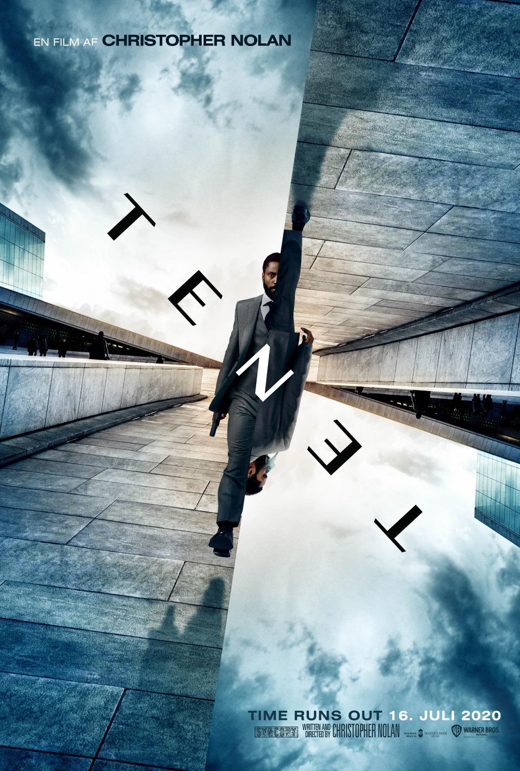 Tenet plakat Nolan / Filmz.dk