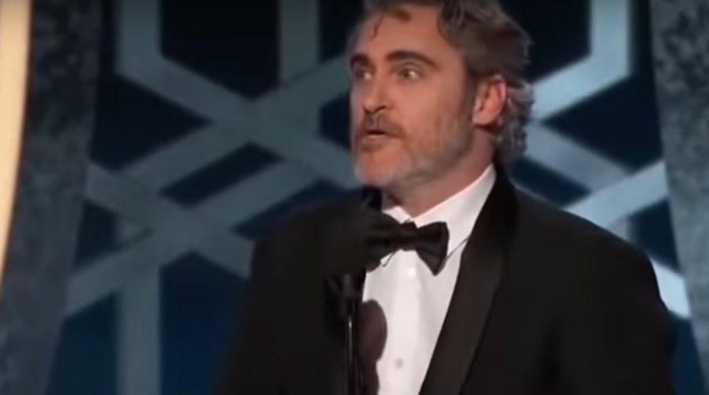 Joaquin Phoenix Golden Globe 2020 tale klima veganer / Filmz.dk