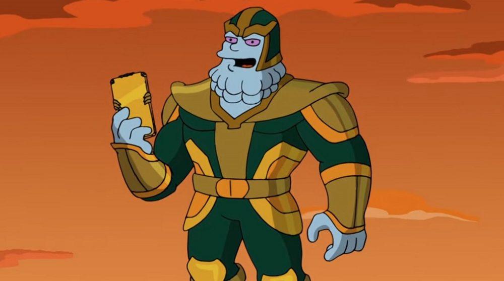 The Simpsons Kevin Feige Thanos MCU / Filmz.dk