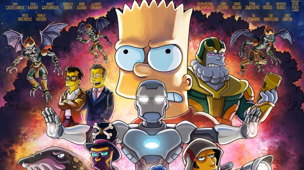 Bart the Bad Guy The Simpsons Marvel Avengers plakat / Filmz.dk