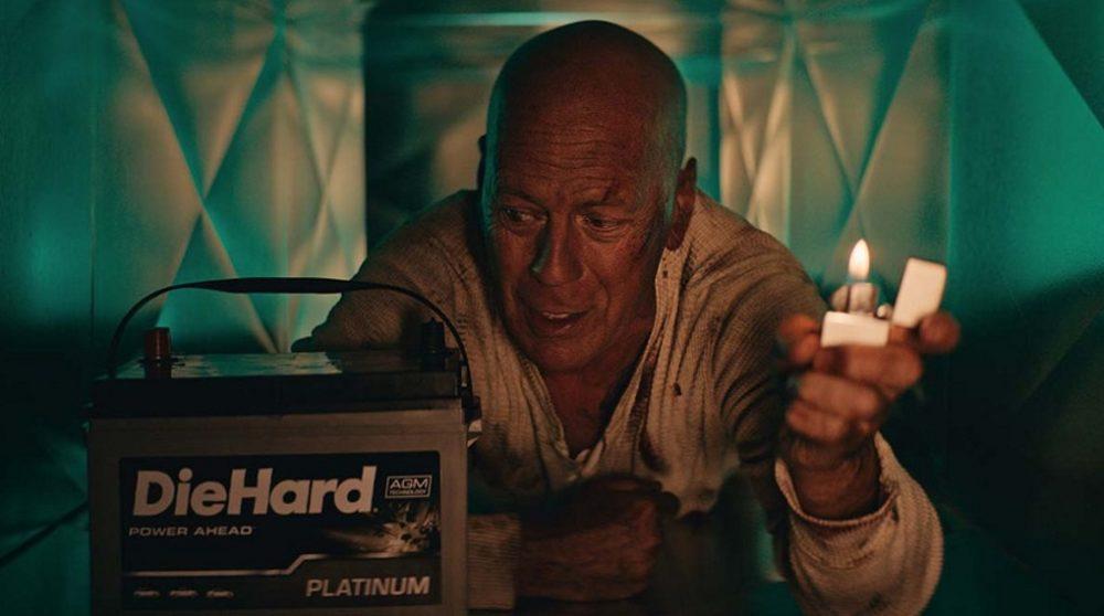 Die Hard reklame Bruce Willis / Filmz.dk